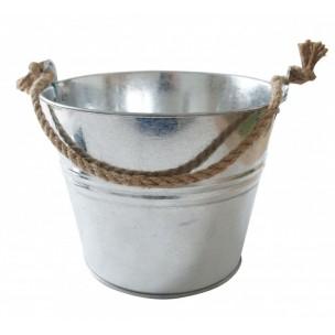 Vědro dekorativní s provazem 10l